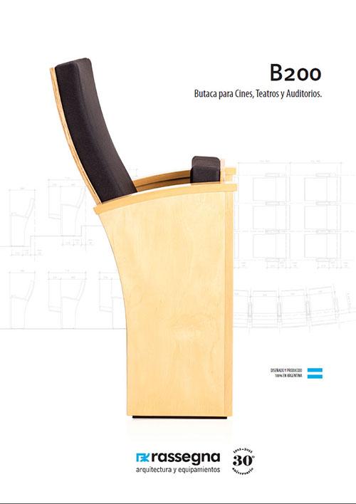 Butaca para auditorios modelo B200