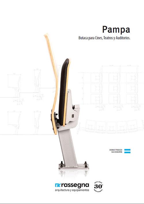 Butaca para auditorios modelo Pampa