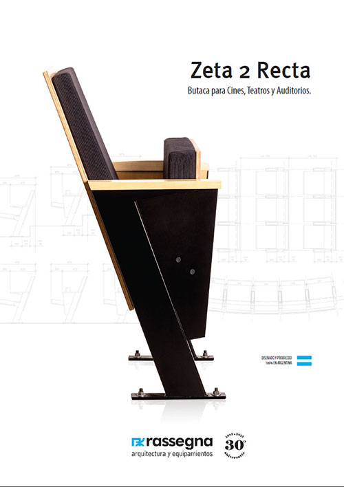Butaca para auditorios modelo Zeta 2 Recta