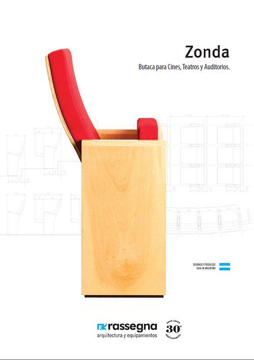 Butaca para auditorios modelo Zonda