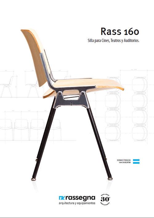 Silla para Auditorios modelo Rass 160