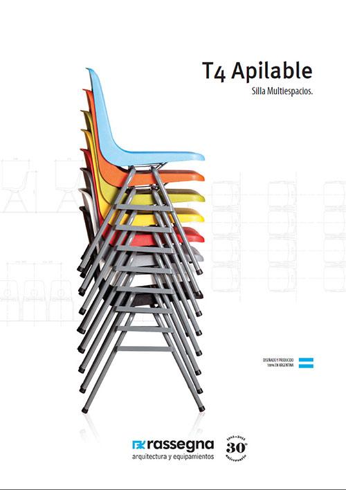 Silla T4 Apilable para múltiples usos