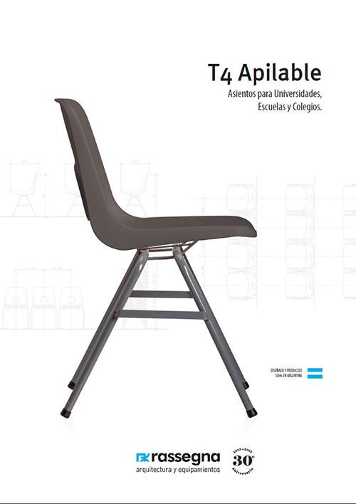 Silla Apilable para Universidades modelo T4
