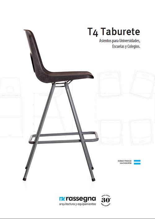 Silla Taburete modelo T4 para Universidades