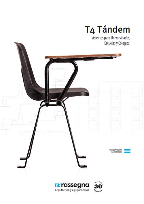 Silla tándem modelo T4 para Universidades y Colegios
