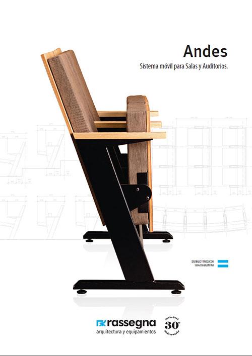 Butaca para auditorios modelo Andes