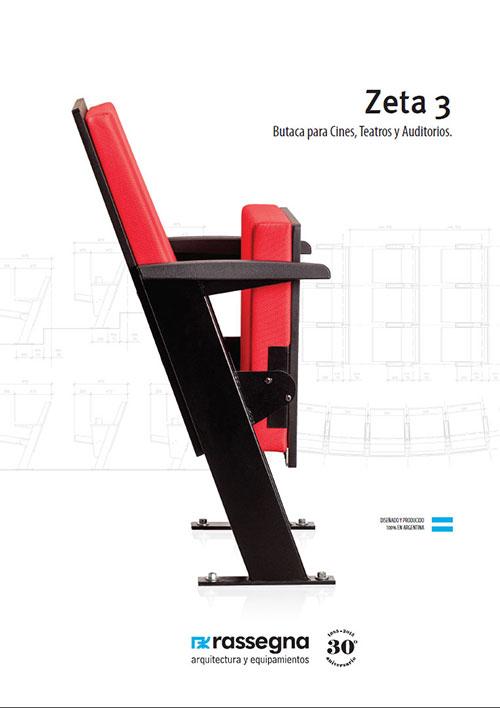 Butaca para auditorios modelo Zeta 3