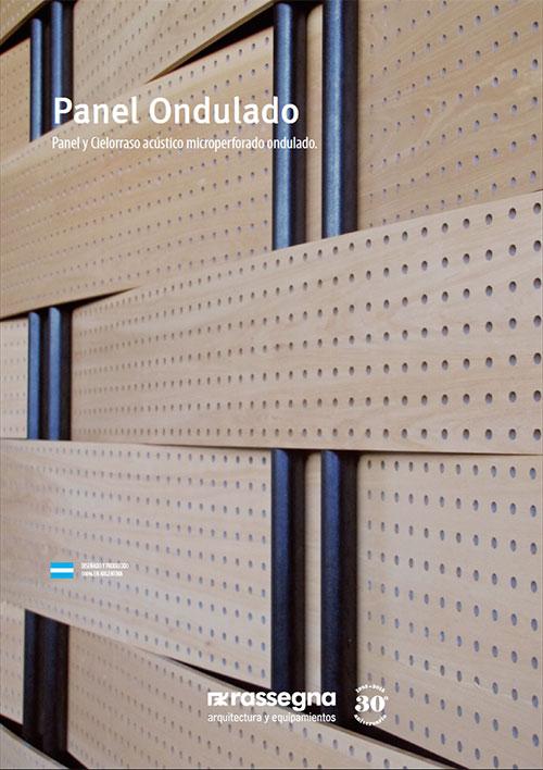 Panel acústico ondulado