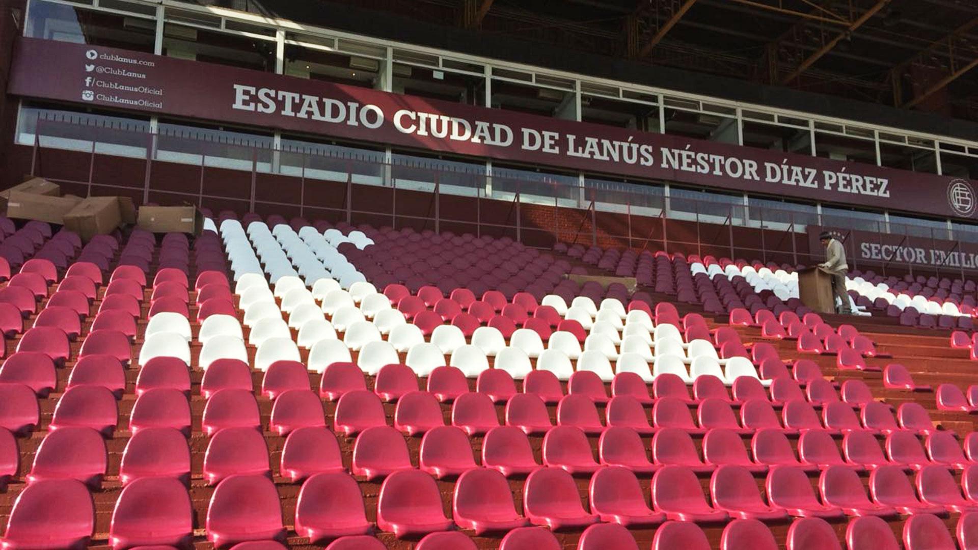 Lanús tribuna Chebel Asientos para estadios
