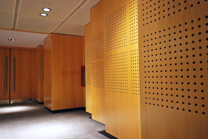 panel acústico perforado