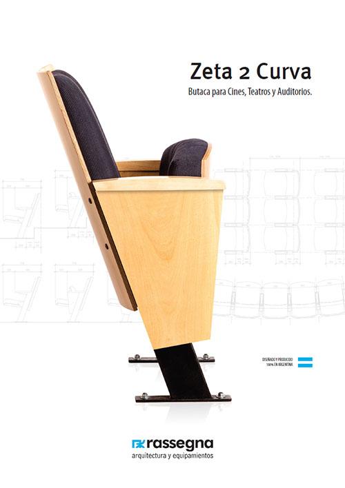Butaca para auditorios modelo Zeta 2 Curva