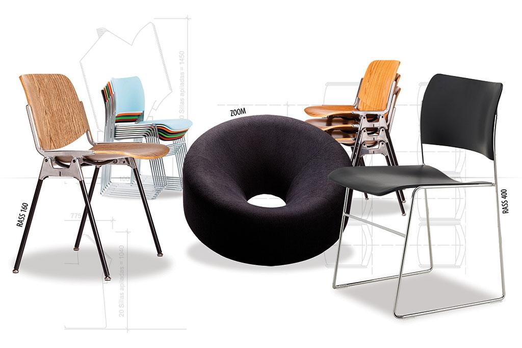 sillas de diseño para oficinas corporativas hoteles locales comerciales
