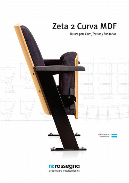 Butaca para auditorios modelo Zeta 2 Curva MDF